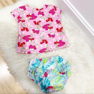 I play swimsuit diaper and top upf 50+ Sz 12-18M